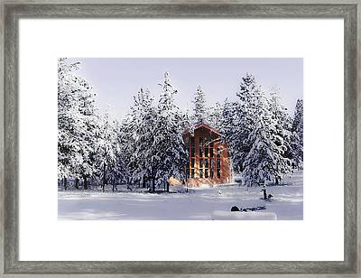 Framed Print featuring the photograph Country Christmas by Janie Johnson