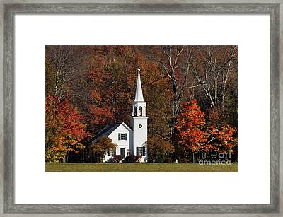 Country Church - D001218 Framed Print by Daniel Dempster