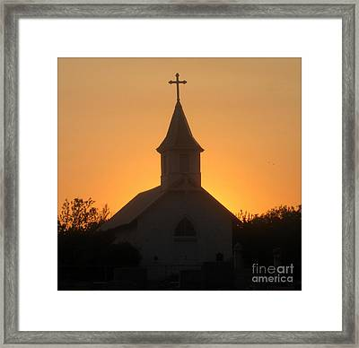 Country Church Framed Print by Kim Yarbrough