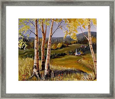 Country Church Framed Print by Marilyn Smith