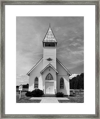 Country Church Framed Print by Steven Ainsworth