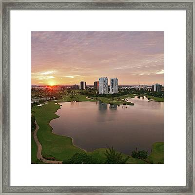 Country Club At Sunset Framed Print by Elido Turco Photographer