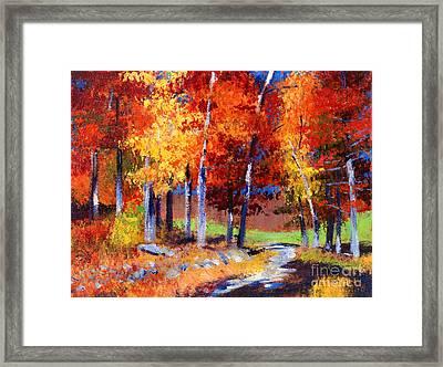 Country Club Fall Plein Air Framed Print by David Lloyd Glover