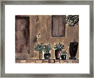 Country Cottage Framed Print by Marsha Heiken