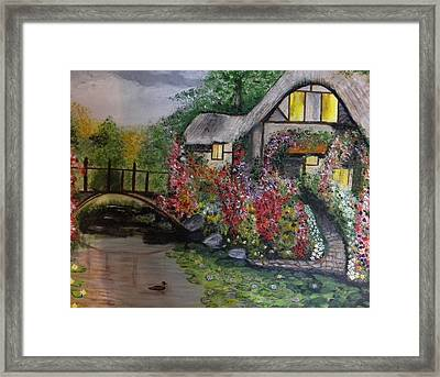 Country Cottage Retreat Framed Print