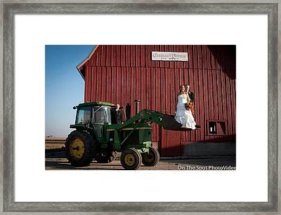 Country Farm Wedding Framed Print by Sidney Dumas