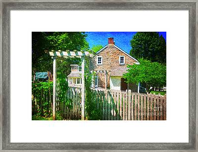 Country Garden Framed Print by Paul Ward