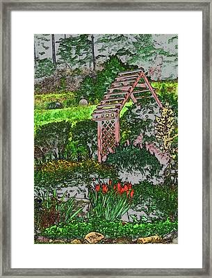 Country Gardens Framed Print by Debra     Vatalaro