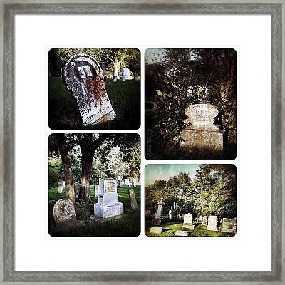 Country Graveyard Framed Print