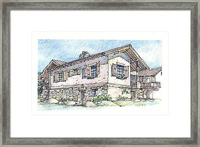 Framed Print featuring the drawing Country Home by Andrew Drozdowicz