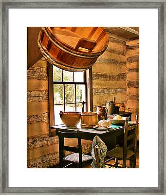 Framed Print featuring the digital art Country Kitchen by Mary Almond