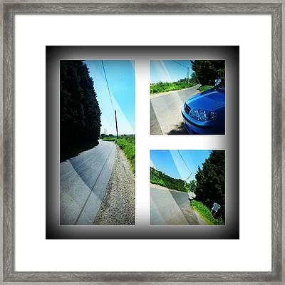 Country Lane Framed Print by Jan Steadman-Jackson