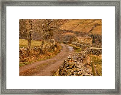 Country Lane Yorkshire Dales Framed Print by Trevor Kersley