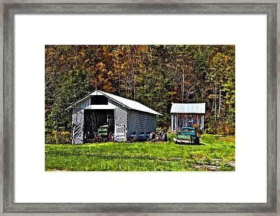 Country Life Framed Print by Steve Harrington