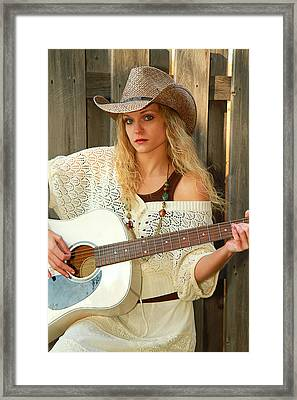 Country Musician Framed Print by Trudy Wilkerson