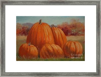 Country Pumpkins Framed Print
