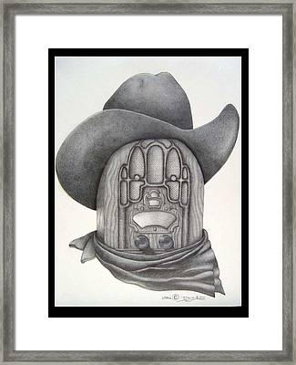 Country Radio Framed Print by Diana Lehr