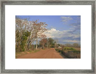 Country Road Framed Print by Jan Amiss Photography