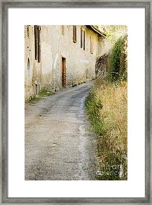 Country Road Passing House Framed Print by Andersen Ross