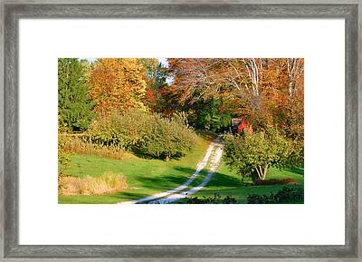 Country Road Take Me Home Framed Print by Kristin Elmquist