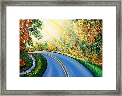 Country Road Framed Print by Usha Rai