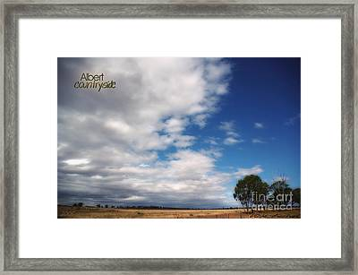 Framed Print featuring the photograph Country Sky by Vicki Ferrari