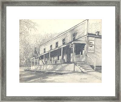 Country Store Framed Print by Charles Hester
