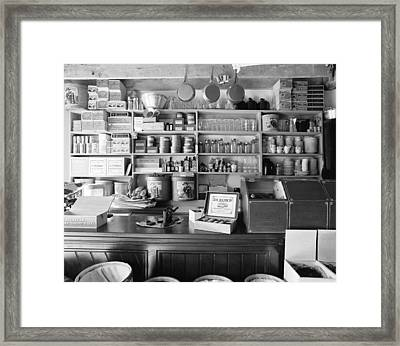 Country Store Interior Framed Print by Jan W Faul