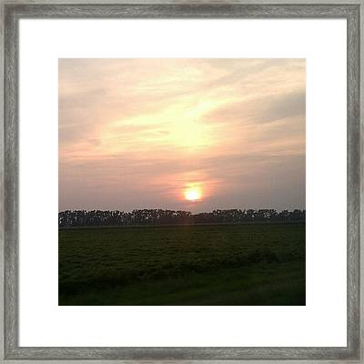 Country Sunset Framed Print by Jeannette Brown