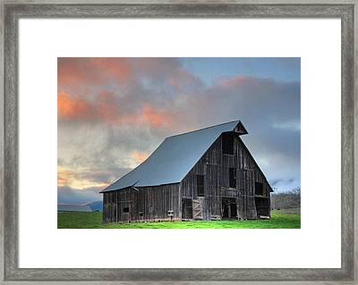Country Sunset Framed Print by Tyra  OBryant
