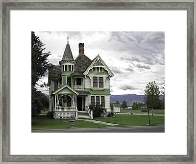 Country Victorian - Hamilton Montana Framed Print by Daniel Hagerman