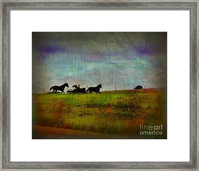 Country Wagon 2 Framed Print by Perry Webster
