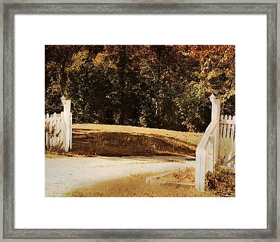 Country Welcome Landscape Framed Print by Jai Johnson