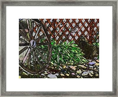 Country Wheel Working Framed Print by Debra     Vatalaro