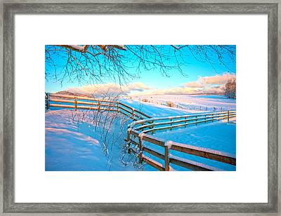 Country Winter Framed Print by Betsy Knapp