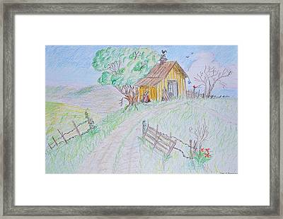 Country Woodshed Framed Print by Debbie Portwood