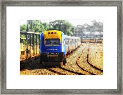 Framed Print featuring the digital art Countrylink Taree 01 by Kevin Chippindall
