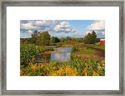 Countryside Framed Print by Cindy Haggerty
