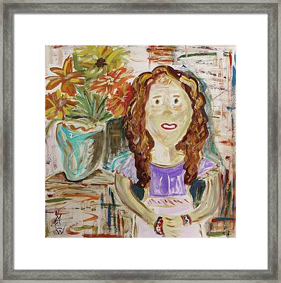 Countryside Girl Framed Print by Mary Carol Williams