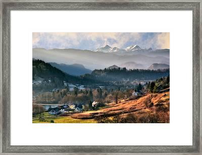 Countryside. Slovenia Framed Print