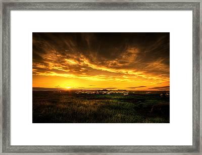 Countryside Sunset Framed Print by Svetlana Sewell