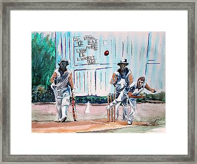 County Cricket Framed Print