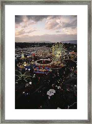 County Fair, Yakima Valley, Rides Framed Print by Sisse Brimberg