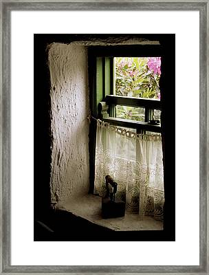 County Kerry, Ireland Cottage Window Framed Print by Richard Cummins