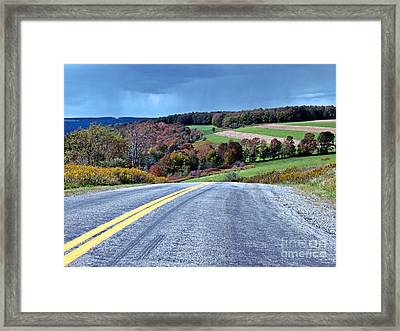 Framed Print featuring the photograph County Road by Christian Mattison