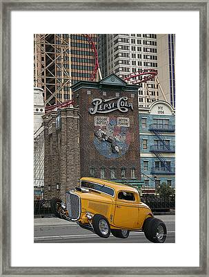 Coupe On Strip In Vegas Framed Print