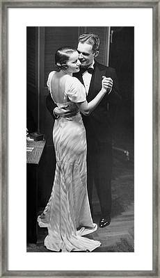 Couple Dancing In Evening Clothes Framed Print by George Marks