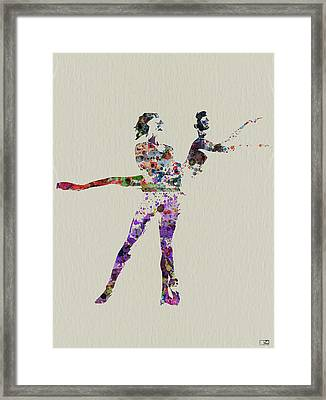 Couple Dancing Framed Print by Naxart Studio