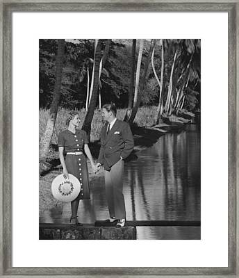 Couple Outdoors Framed Print by George Marks