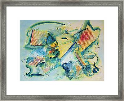 Courage Bolstering Strength Framed Print by Asha Carolyn Young